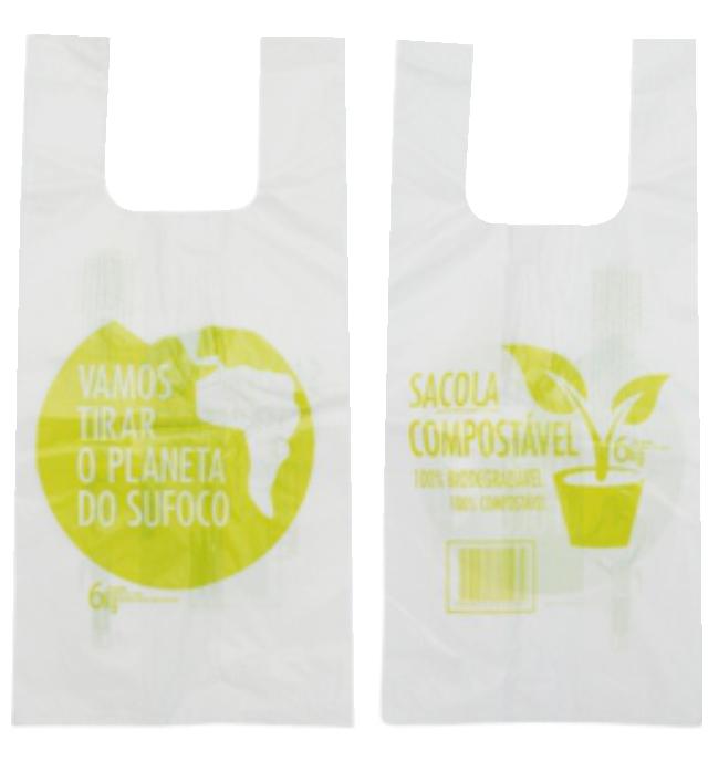 Sacola Impressa Biodegradável